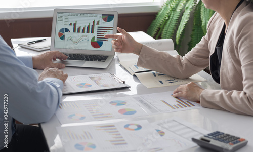 Fototapeta business meeting reporting obraz