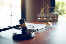 Judge Gavel At The Judicial Of...