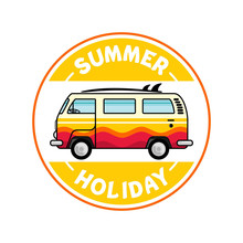 Flat Illustration Summer Holid...