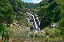 Mantenga Waterfall,one Of Swaziland's Best-known Waterfalls