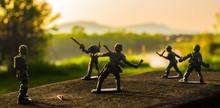 Close-up Of Toy Soldiers On Re...