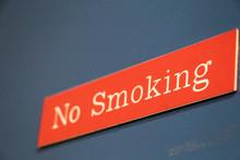 Low Angle View Of No Smoking S...