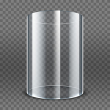Empty Transparent Glass Cylind...