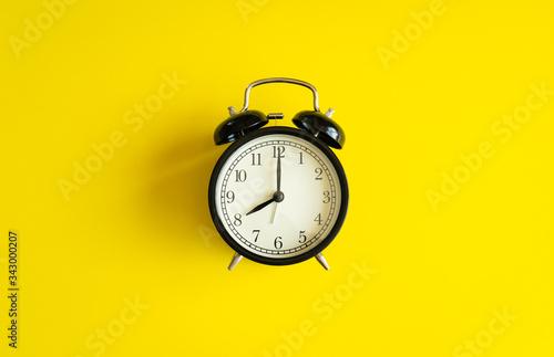 black alarm clock from 7 a Wallpaper Mural