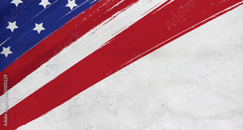 Fotografie, Tablou flag USA background design for independence, veterans, labor, memorial day backg
