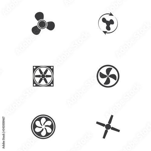 Fan vector illustration icon Template Fototapet