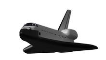 Space Shuttle Isolated On White. Render 3d. Illustration.