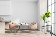 White And Wooden Dining Room I...
