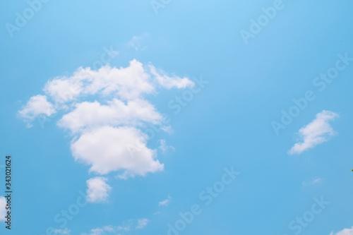 cloud on blue sky Canvas Print