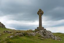 Celtic Cross On Llanddwyn Island, Anglesey, North Wales