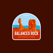 Balanced Rock National Park Logo Vector Icon Illustration