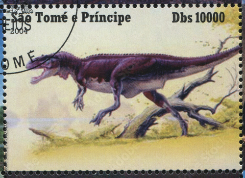 Papel de parede RUSSIA KALININGRAD, 28 MARCH 2019: stamp printed by Sao Tome and Principe shows