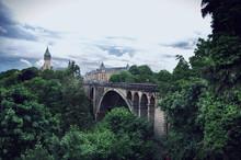 Adolphe Bridge By Historic Buildings Against Sky