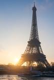 Fototapeta Fototapety z wieżą Eiffla - Low Angle View Of Eiffel Tower