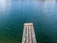 Landscape With Wooden Footbridge