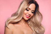 Ombre Blond Wavy Hairstyle. Be...
