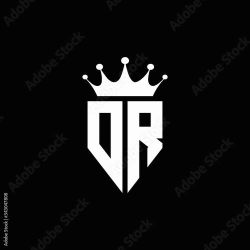 Cuadros en Lienzo DR logo monogram emblem style with crown shape design template