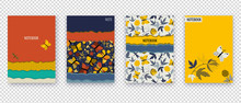 Set Floral Banners. Yellow Wil...