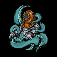 Scuba Diver Octopus