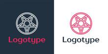 Logotype Line Pentagram In A C...