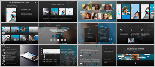 Presentation design vector templates, multipurpose template for presentation slide, flyer, brochure cover design, infographic report Fototapeta