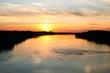 Piękny zachód słońca nad Wisłą