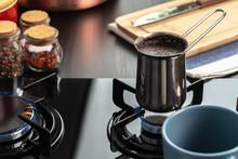 Brew Coffee In A Steel Turk On...