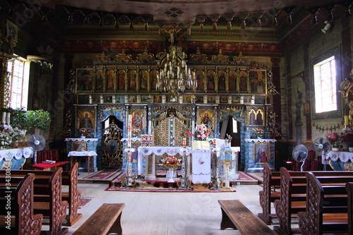 Fotografie, Obraz Wooden Orthodox church in Beresta