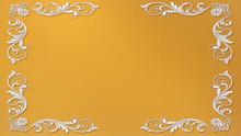 Golden Background With Metalli...