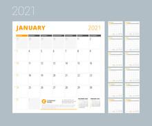 Calendar For 2021 Year. Week S...