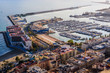 Stunning View of the Port of Santa Barbara Fortress in Alicante. Alicante province. Spain