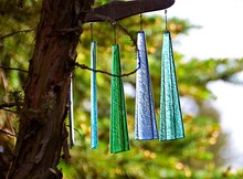Multi Colored Wind Chimes Hang...