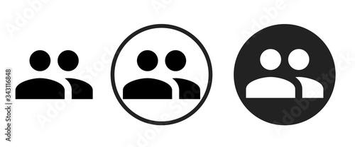 Obraz na plátně group icon . web icon set .vector illustration