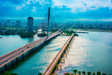View Of Da Nang City With Nguyen Van Troi Bridge, Vietnam