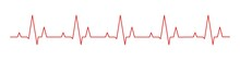 Hearbeat Red Line. Vector Isol...