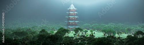 Valokuvatapetti chinese pagoda