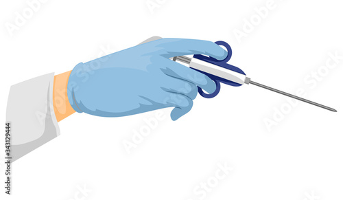 Valokuva Hand Biopsy Needle Illustration