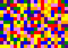 Colorful Random Vector Mosaic Pattern From Rainbow Color Palette (red, Orange, Violet, Yellow,green, Blue, Indigo) Colors