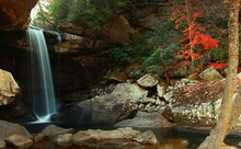 Eagle Falls In Cumberland Falls State Park During Late Fall