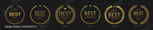 Fotografía Best price Golden wreath icons
