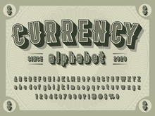 3D Retro Money Alphabet Design...