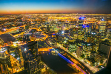 Aerial View Of The Melbourne C...