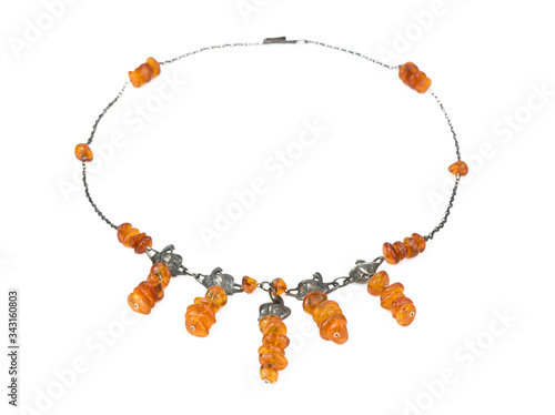 Necklace from natural amber Wallpaper Mural