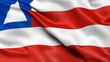 Bahia Flag Waving In The Wind....