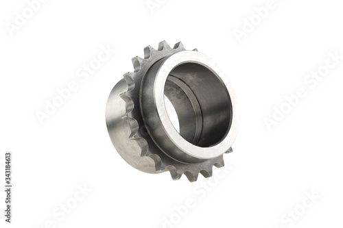 crankshaft gear on a white background isolated Canvas Print