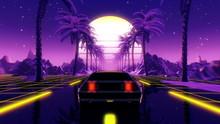 80s Retro Futuristic Sci-fi 3D...