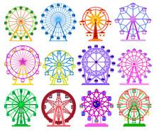 Ferris Wheel Isolated Cartoon ...