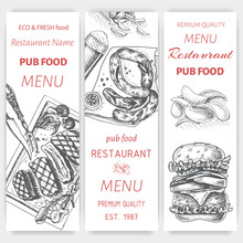 Vector Sketch Of Fast Food Pub...