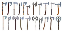 Medieval Axe Vector Cartoon Se...