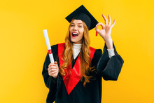 Graduate Shows The OK Gesture ...